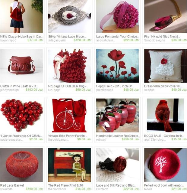 Etsy Red Items