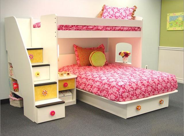 For Big Families Wood Bunk Beds Are Ideal Maximizing Space You Can Combine Up To 4 Bunks Adjacent The Wall Free More Flooring In Room