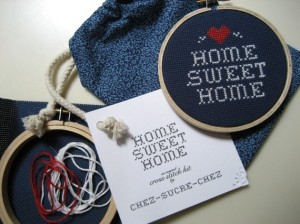 cross stitch kit by chez sucre chez