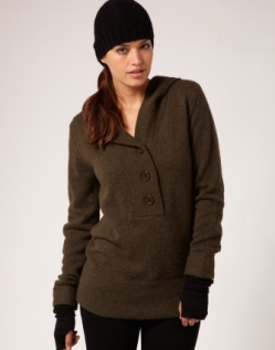 Archer Button Front Hoodie via Storm