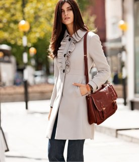 HM Fitted coat with ruffles