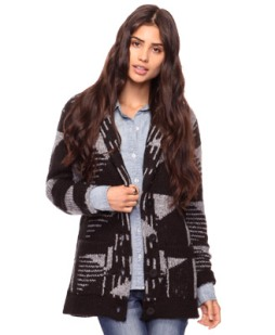 Knitted Geometric Cardigan Forever 21