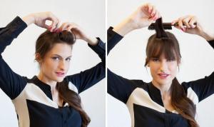 pompadour bangs
