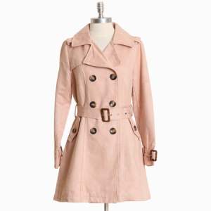 shopruche lovett arbor pink trench coat