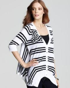 Trio Stripe High Low Cardigan bloomingdales