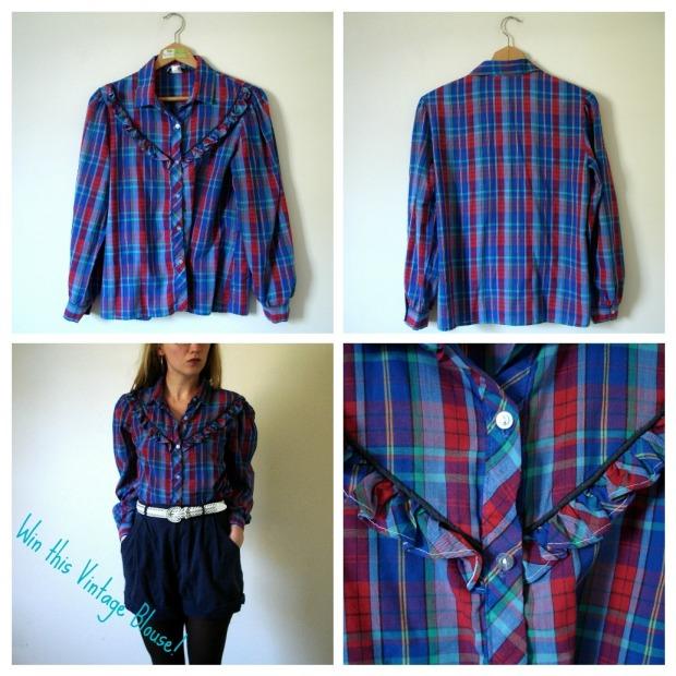 Katie Zick vintage blouse giveaway