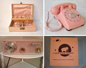 pink vintage collectibles
