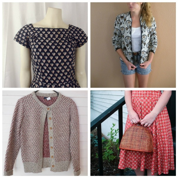 vintage clothes with heart print