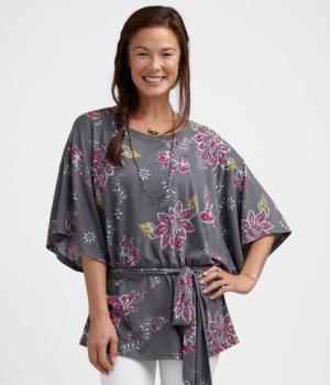 balinese batik floral top
