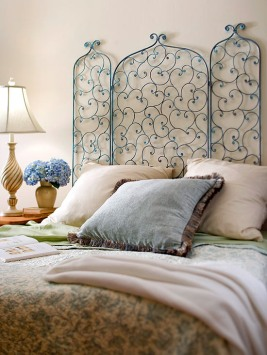fireplace screen headboard