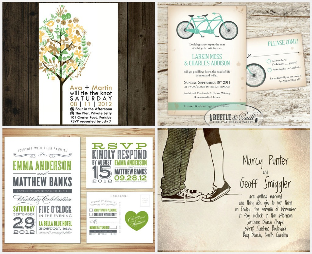 DIY Printable Wedding Invitations and Save-the-Date Cards ...