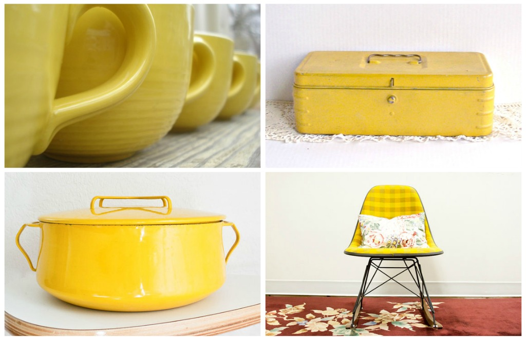 yellow retro kitchens - photo #6