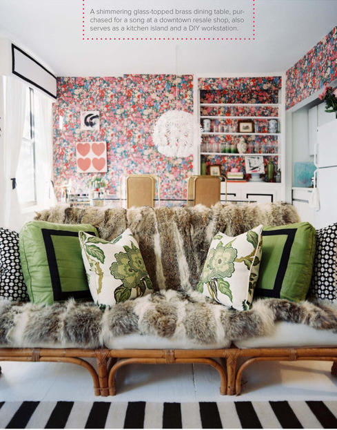 Anne Burke West Village Apartment via lonnymag