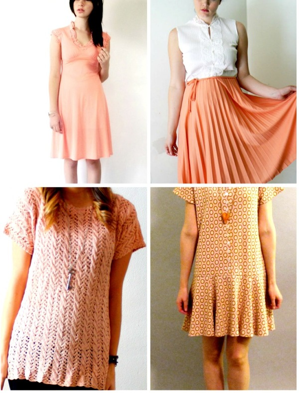 peach vintage clothes
