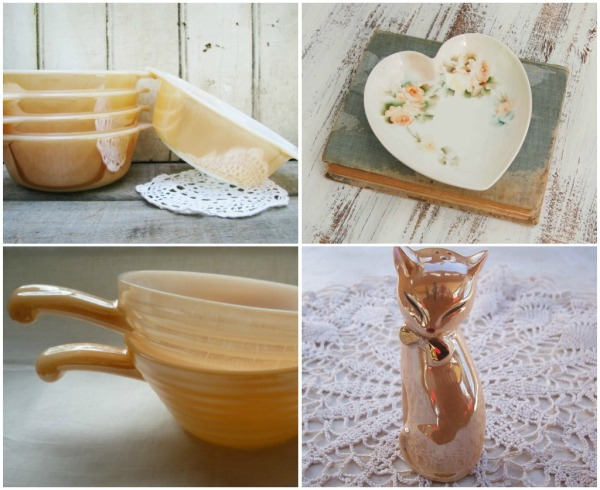peach vintage kitchen collectible