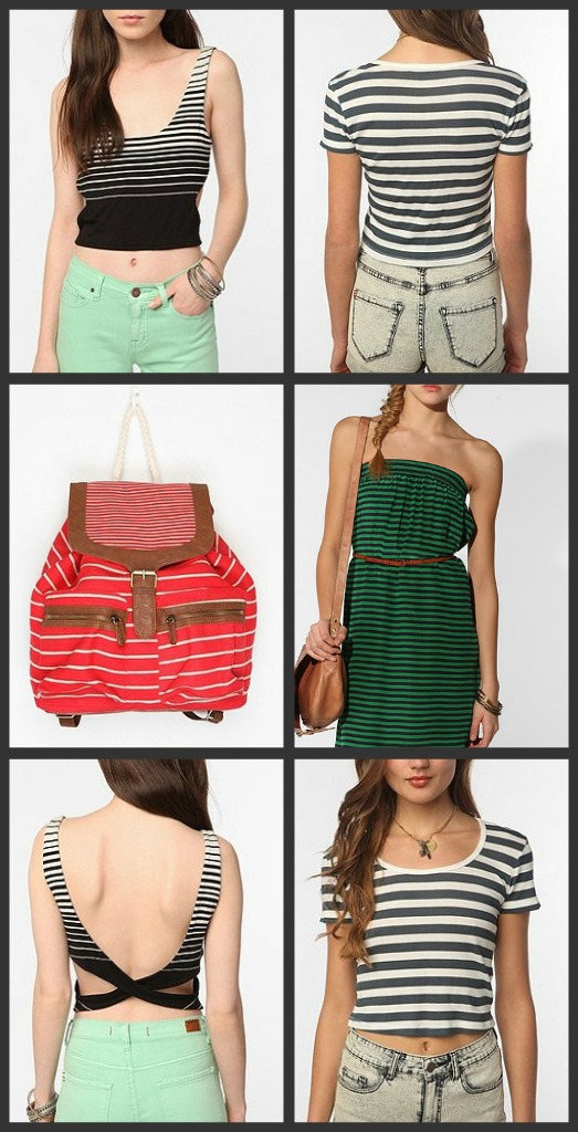urban outfitters striped outfits march catalog