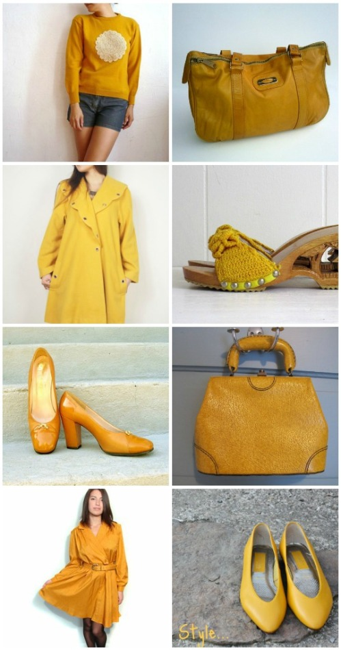 vintage mustard apparel accessories
