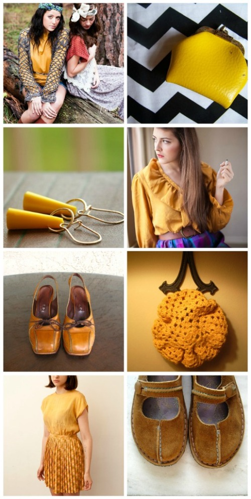 vintage mustard clothing accessories