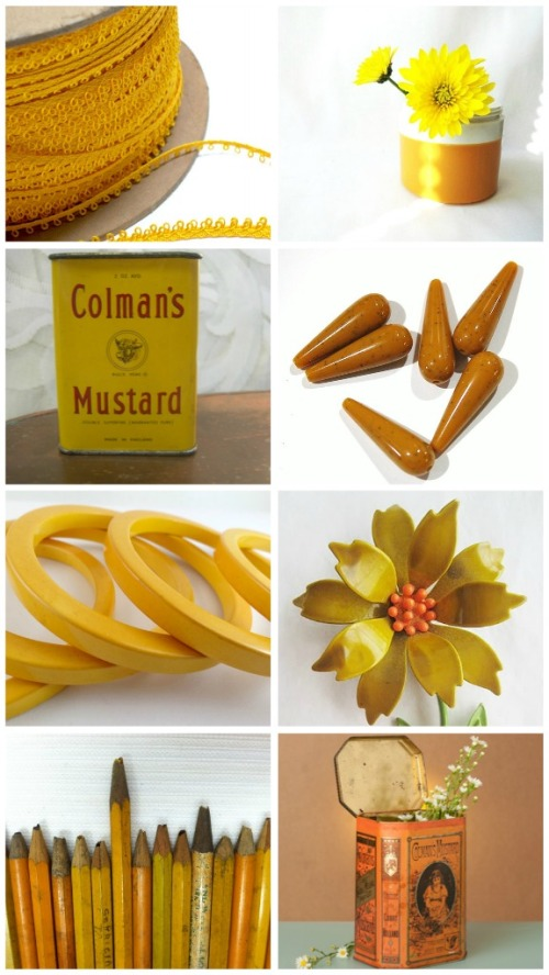 vintage mustard collectibles