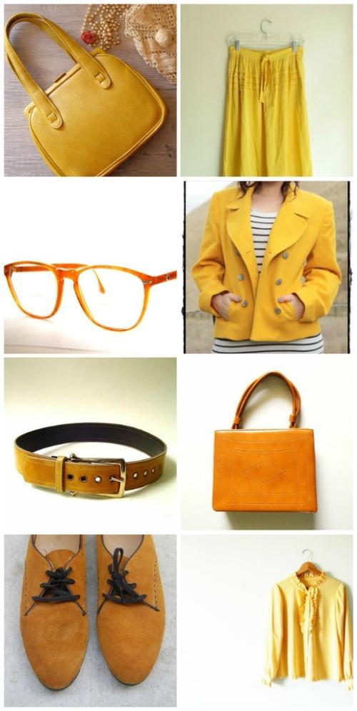 vintage mustard fashion