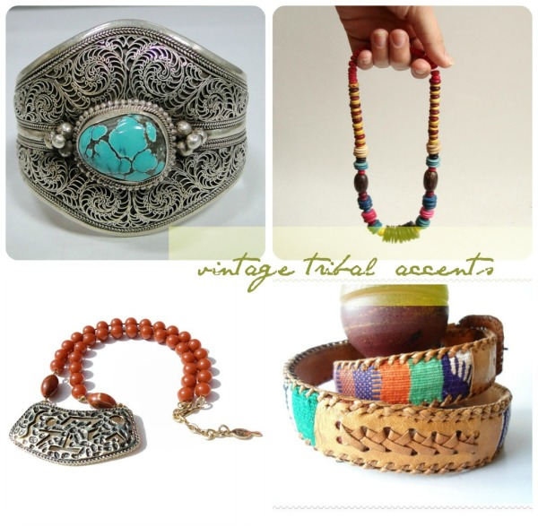 vintage tribal accents